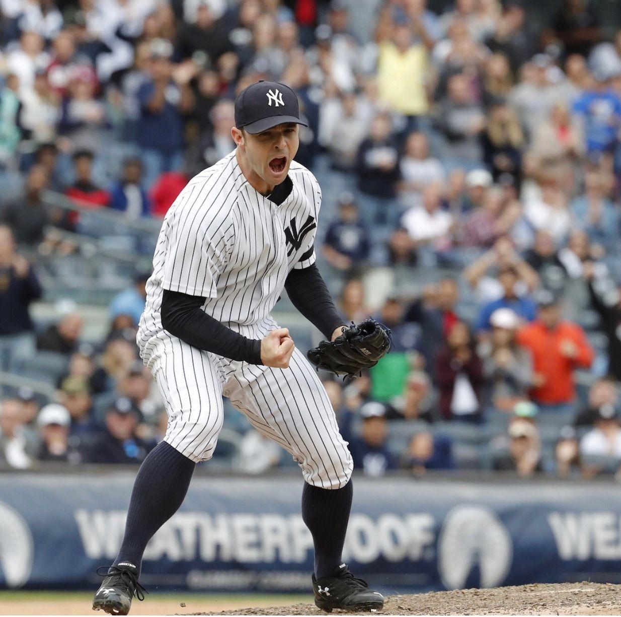 David Robertson Fired Up New York Yankees Ny Yankees My Yankees