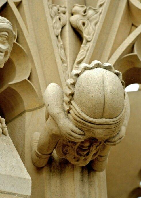 Mooning gargoyle england humor history jokes