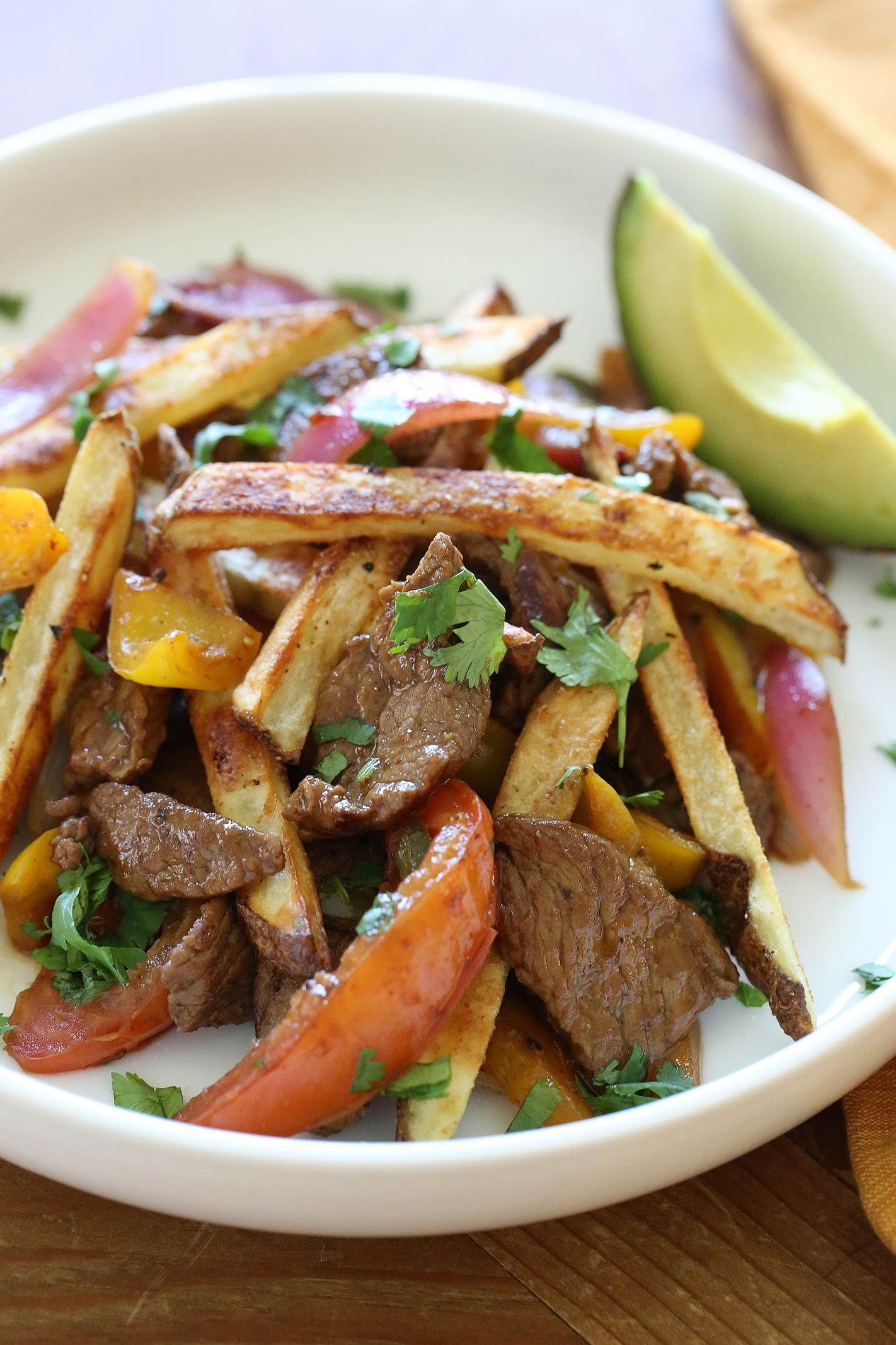 This is an easy to make peruvian beef and potato stir fry this is an easy to make peruvian beef and potato stir fry forumfinder Image collections