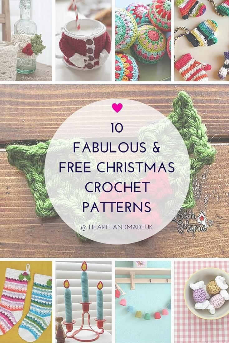 10 Fabulous and Free Christmas Crochet Patterns | Navidad, Frascos ...