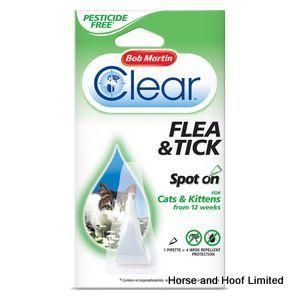 Bob Martin Clear Flea Tick Spot On For Cats Kittens 4 Week X 10 Cats Kittens Ticks On Cats Cat Health Care