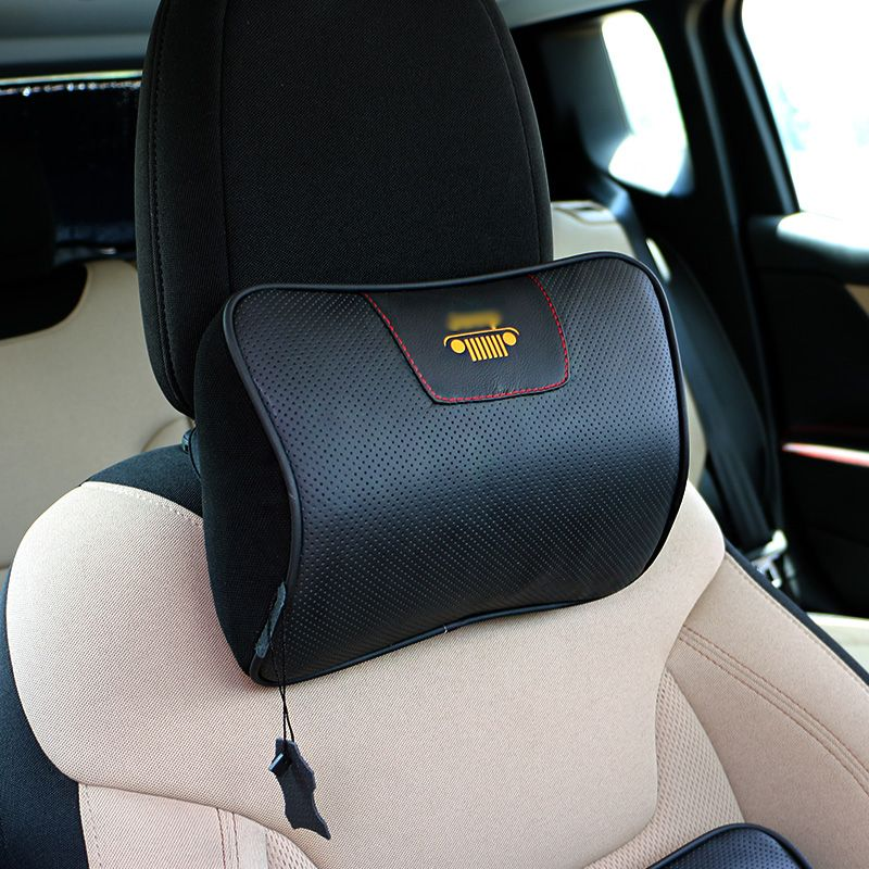 Makeover Furniture Leather Car Pillow Headrest Neck Support Seat