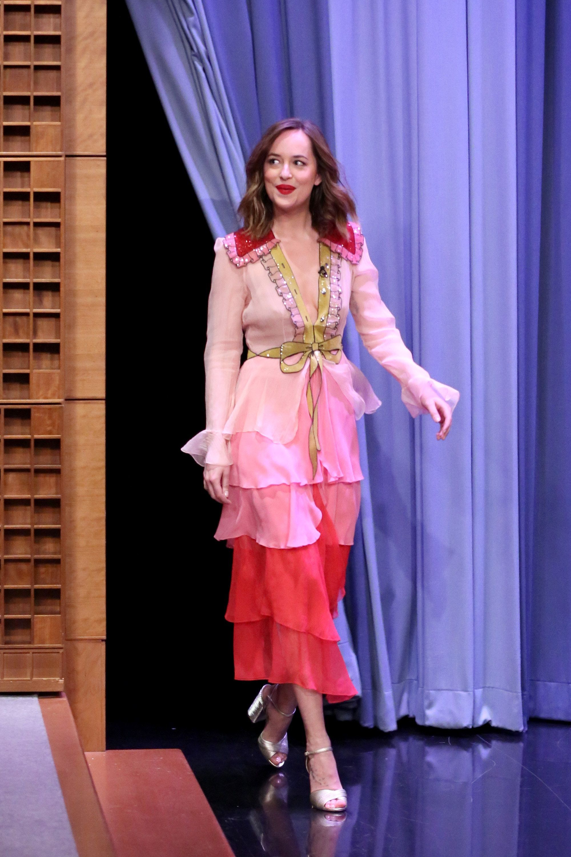 Dakota Johnson Just Wore the Best Dress Ever | Gucci dress, Dakota ...