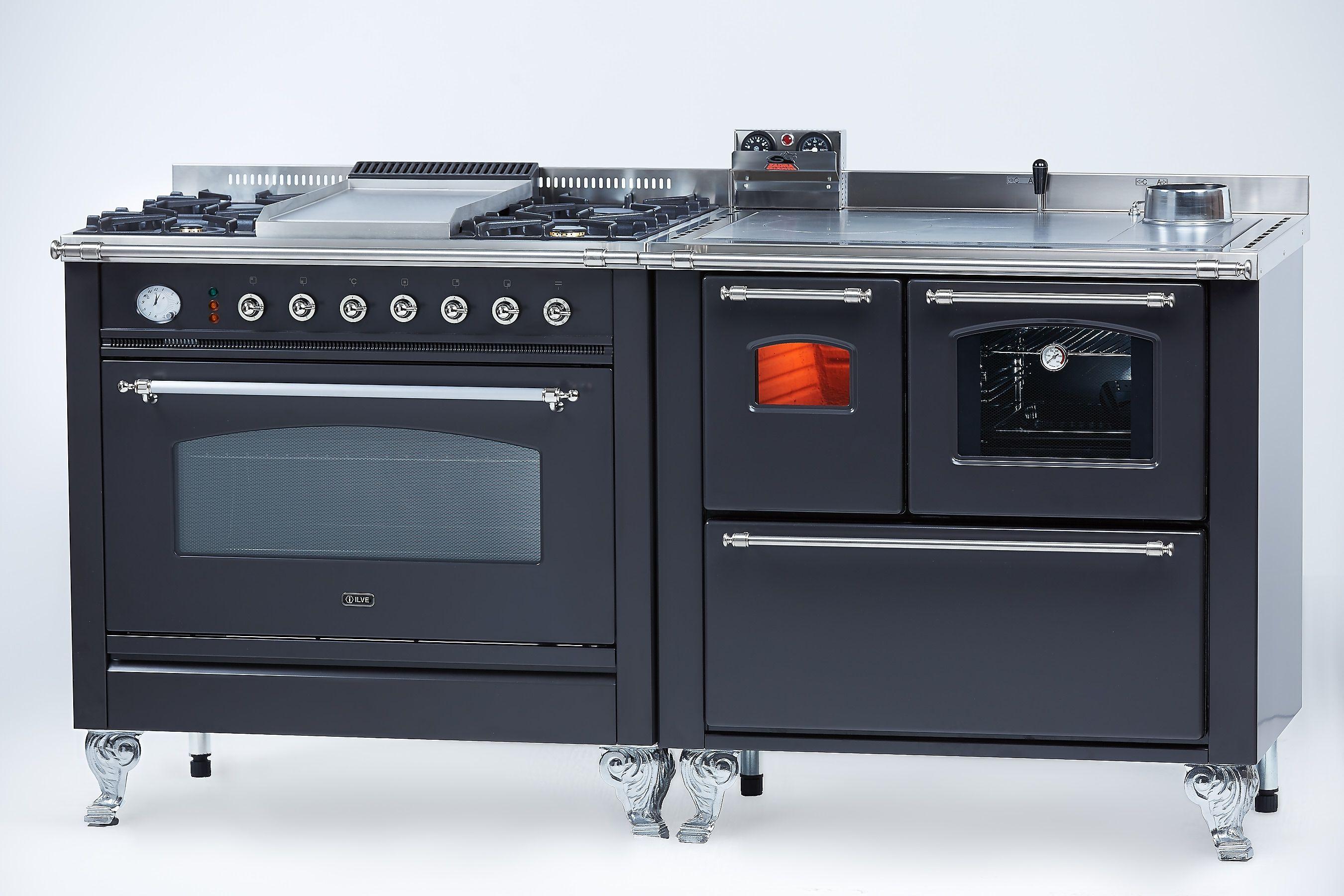 Cucina a legna abbinata alla cucina a gas con forno multifunzione  Cucine a legna nel 2019