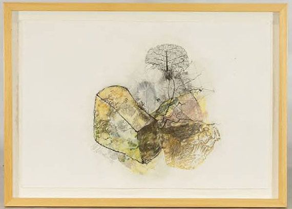 Well Known Chicago Artist Lucy Stravinski Abrstract No4 Collage drawings and transfers on paper 19in x 26in
