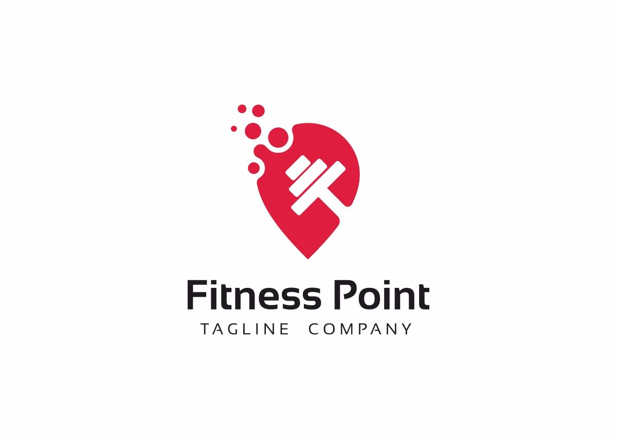 Fitness Point Logo Template Point Fitness Template Logo Logo Logo Templates Logos Fitness Logo