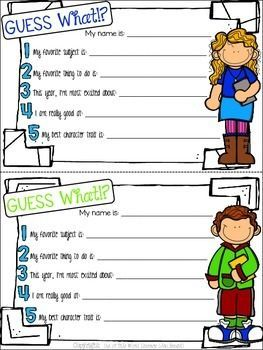 free back to school icebreaker for big kids free writing resources