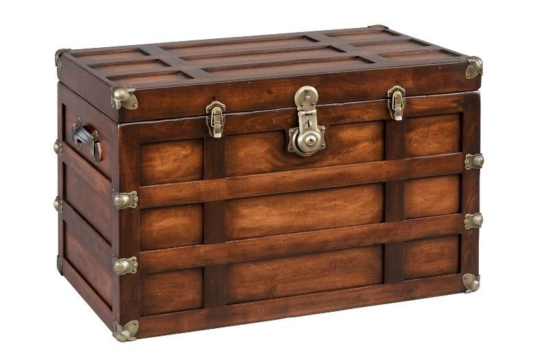 Tall Plymouth Trunk Maple Vintage Steamer Trunk Wooden Trunks Steamer Trunk
