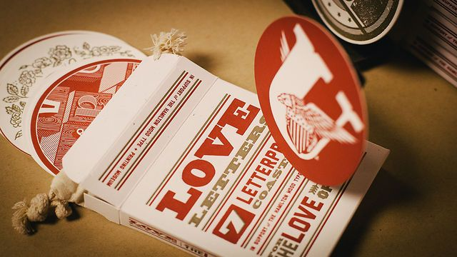 Love Letters by FCTN. Our friends at Mamas Sauce put together a project called Love Letters to help 'Hamilton Wood Type & Print Museum' facilitate an unplanned and forced move. This project is donating all proceeds to help fund the last minute move.