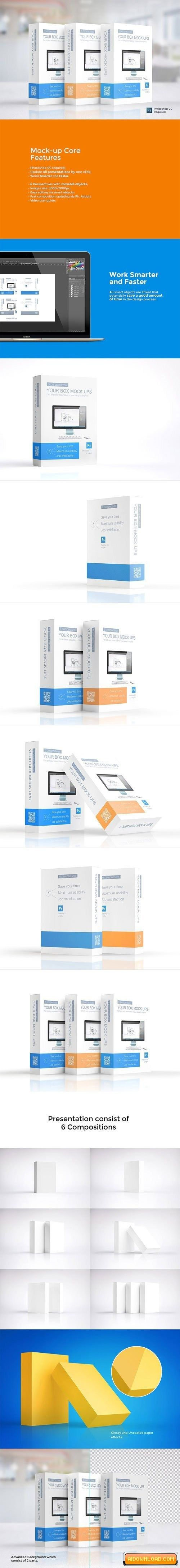 Download Multipurpose Product Box X2f Package Free Download Free Graphic Templates Fonts Logos Amp Icons Psd Ai Box Mockup Mockup Design Mockup
