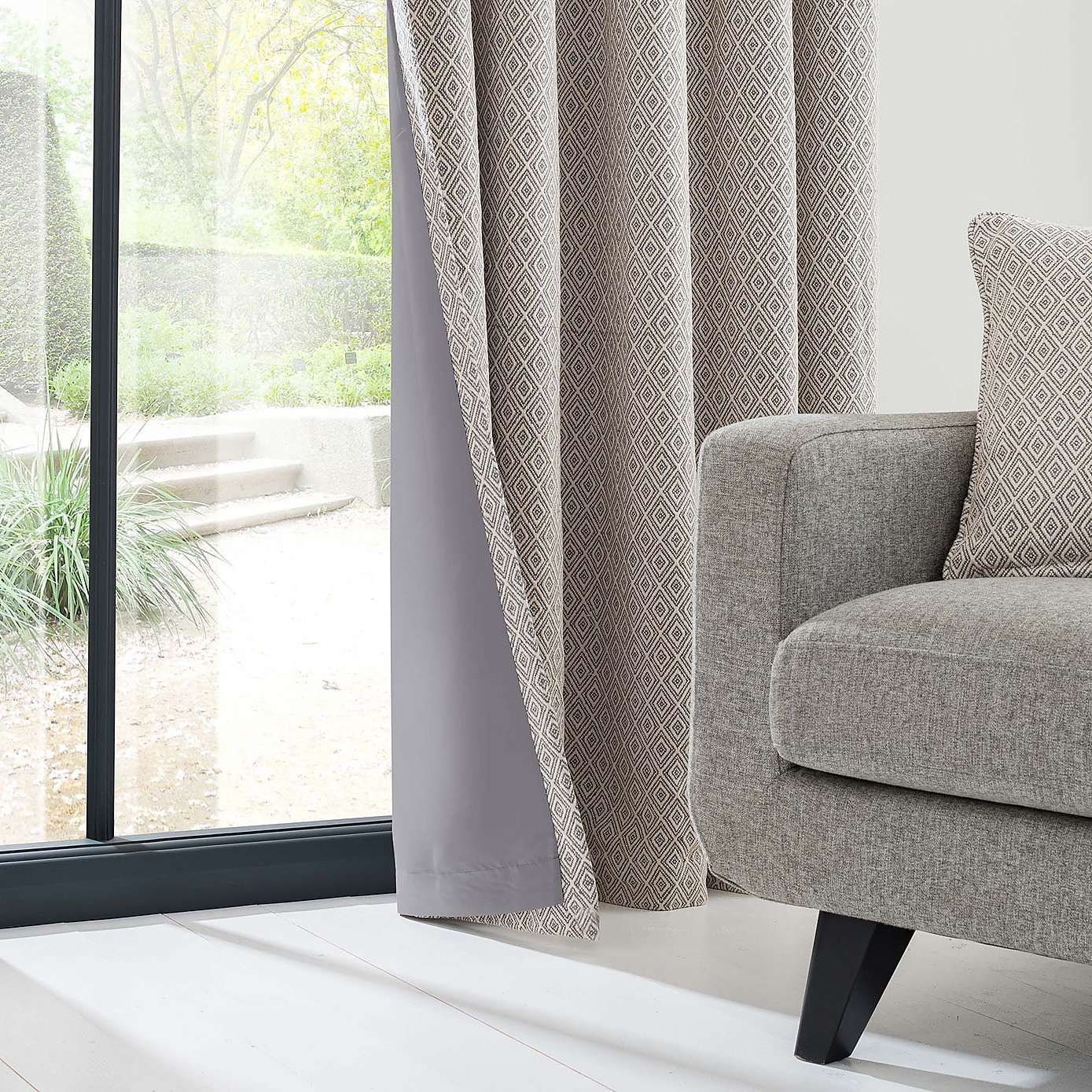 Red And Grey Curtains Dunelm: Elements Oslo Grey Eyelet Curtains