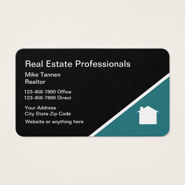 real estate professional business card custom office supplies