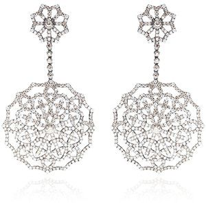 Bochic Diamond Snowflake Earrings