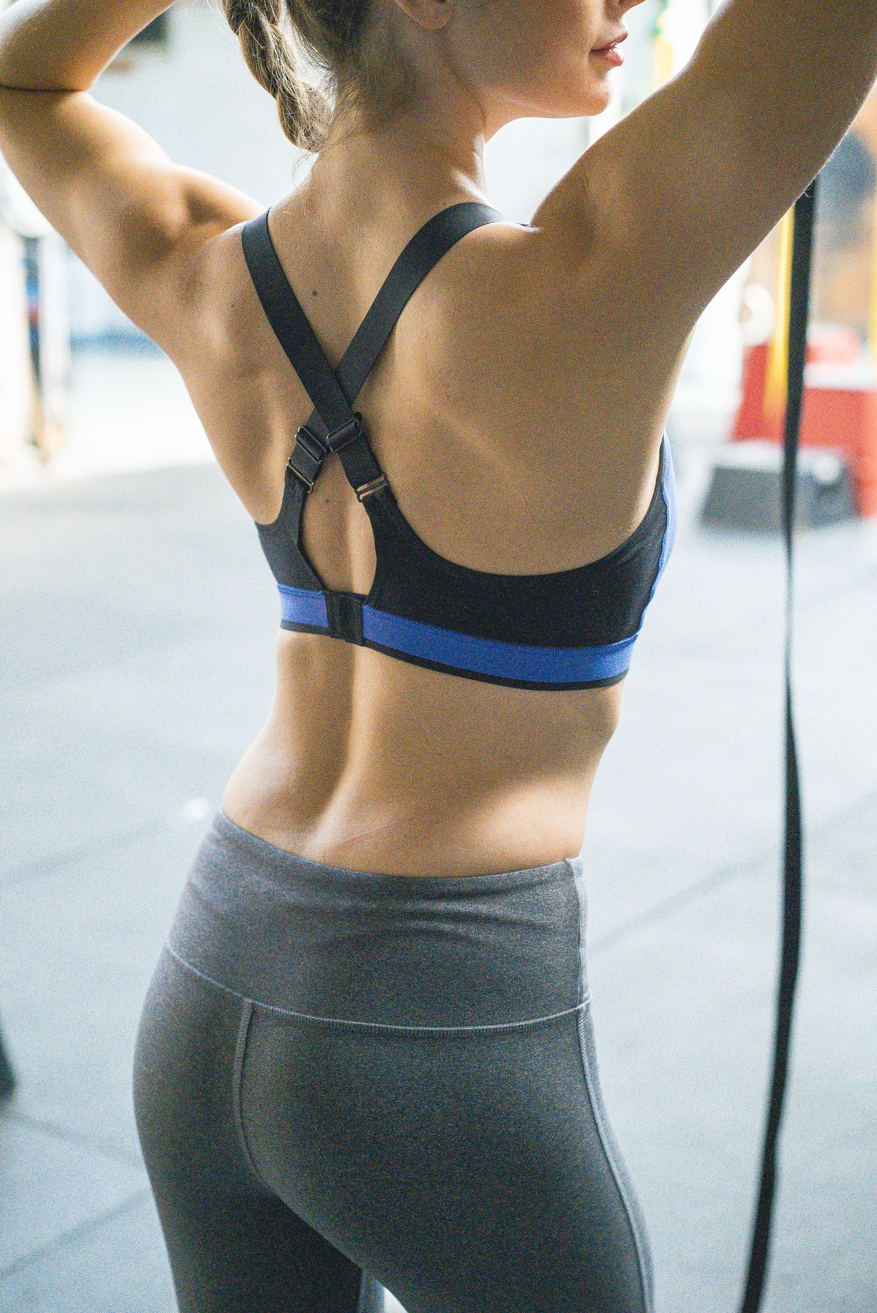 af5b9da73f20c No WOD can conquer this Reebok high impact sports bra. Put it to the test.