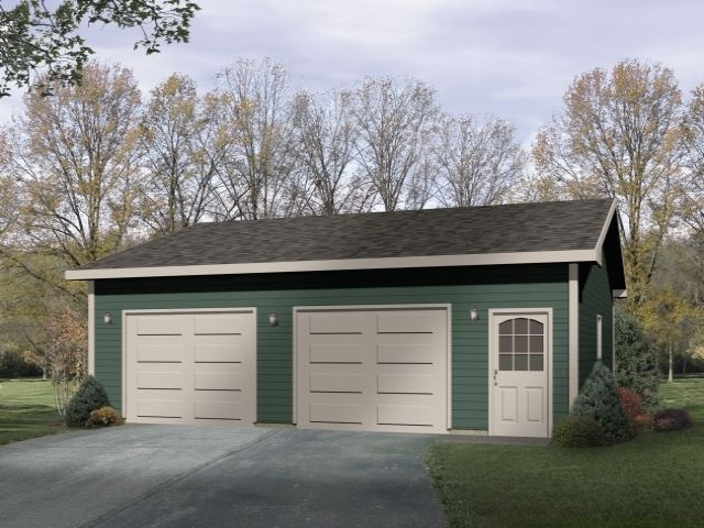 Over size two car garage plan.