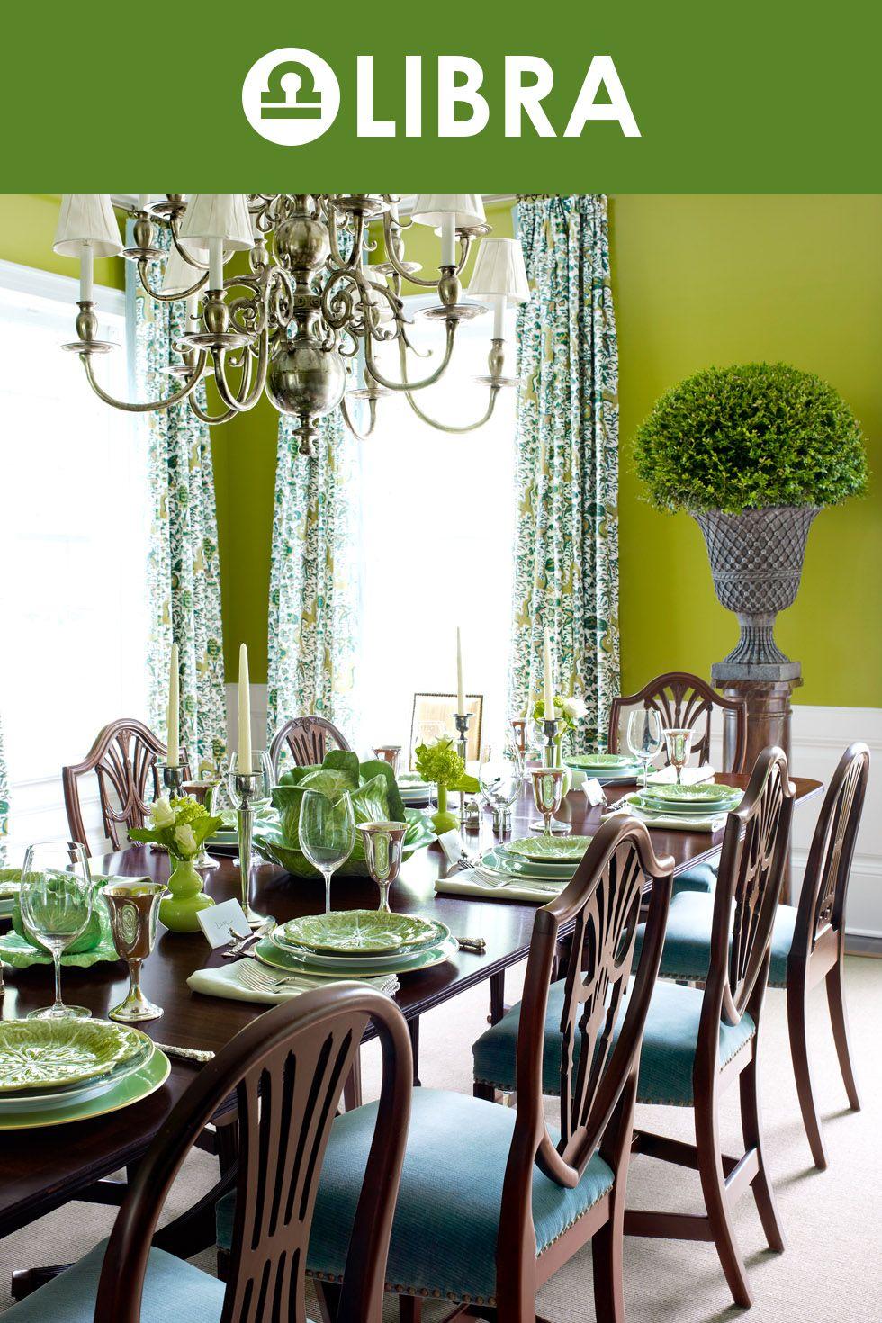 The Best Paint Color For Your Zodiac Sign Green Dining Room Dining Room Paint Colors Dining Room Paint