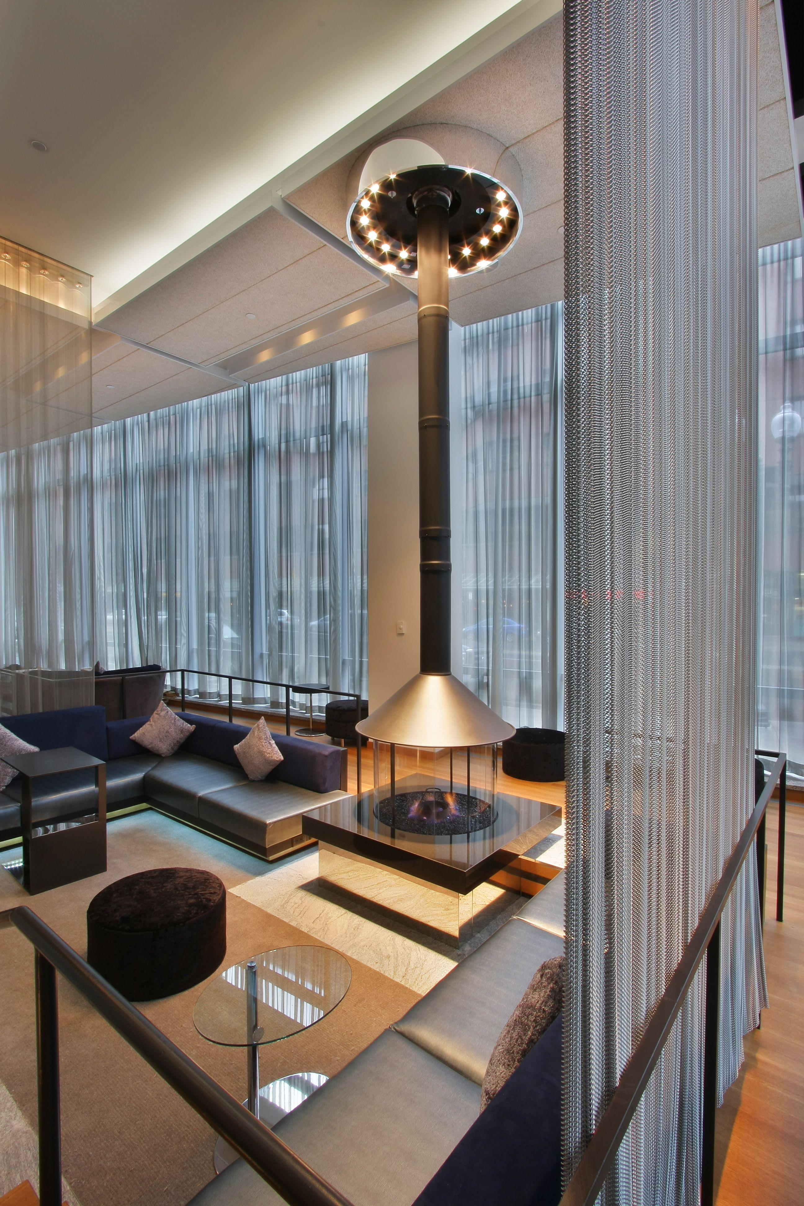 Decorative Firescreens And Wire Mesh Curtains Create A