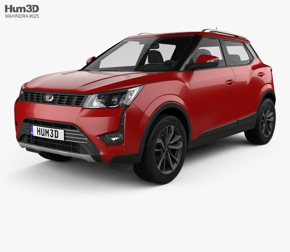 3d Model Of Mahindra Xuv300 2019 3d Model Model Car Model