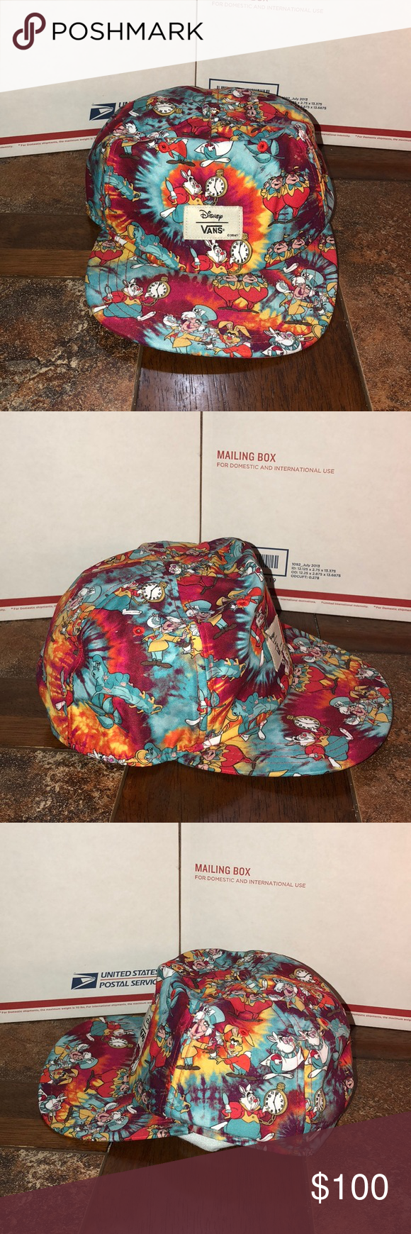 cdd9085ddb6 Vans Alice in Wonderland Disney SnapBack Vans Alice In Wonderland Disney  SnapBack One Size Brand New  Without Tags Willing To Accept Reasonable  Offers (138) ...