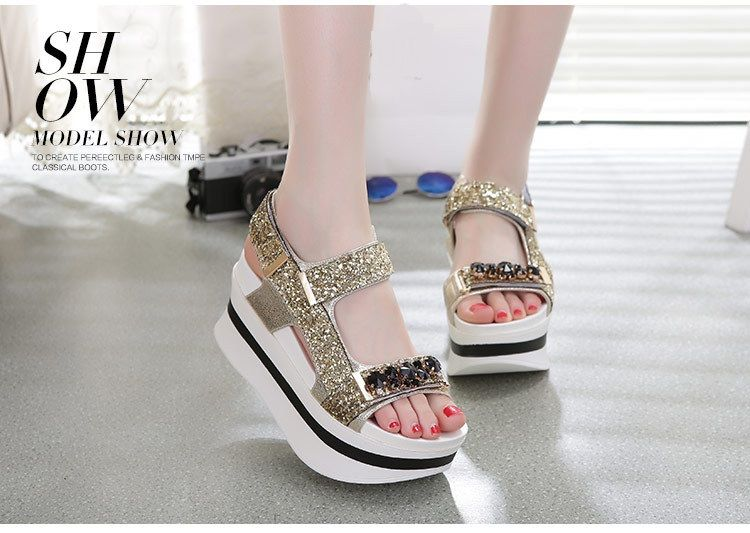 Original New Retro Leather Sandals, summer thick bottom muffin bottom and magic clip soft bottom leisure clip shoes.