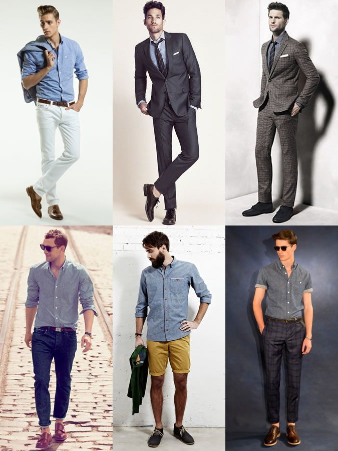3442eb5180f1 2014 Spring Summer Capsule Wardrobe Pick  Indigo Chambray Shirt Lookbook  Inspiration