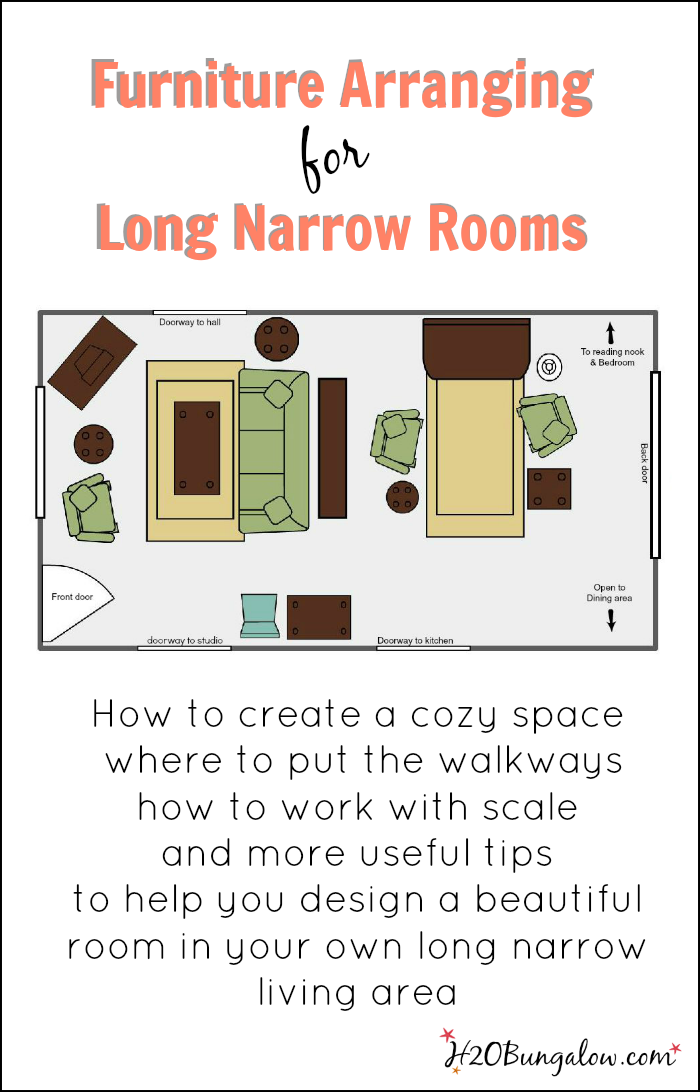 Create a beautiful space today in your long narrow living for Small narrow living room furniture arrangement