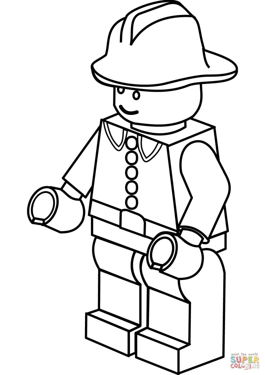 Firefighter Coloring Pages Coloring Firefighter Coloring Pages Kids Coloring Page Birijus Com Lego Coloring Pages Lego Coloring Lego Coloring Sheet
