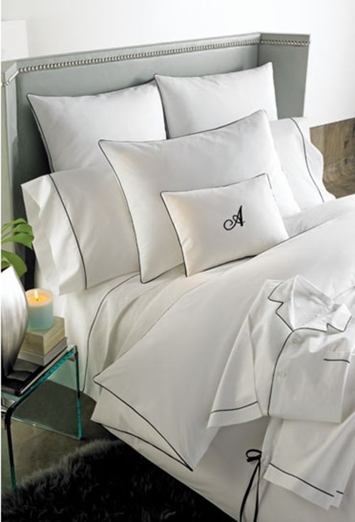 White Bedding Black Trim For Master Bedroom Home Must