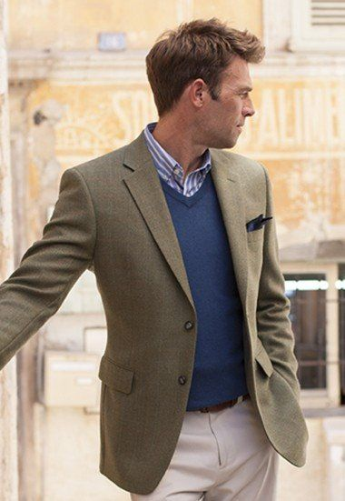 3e424360 Big & Tall Sports Jacket, Tweed - Olive Check | Mens Fashion ...