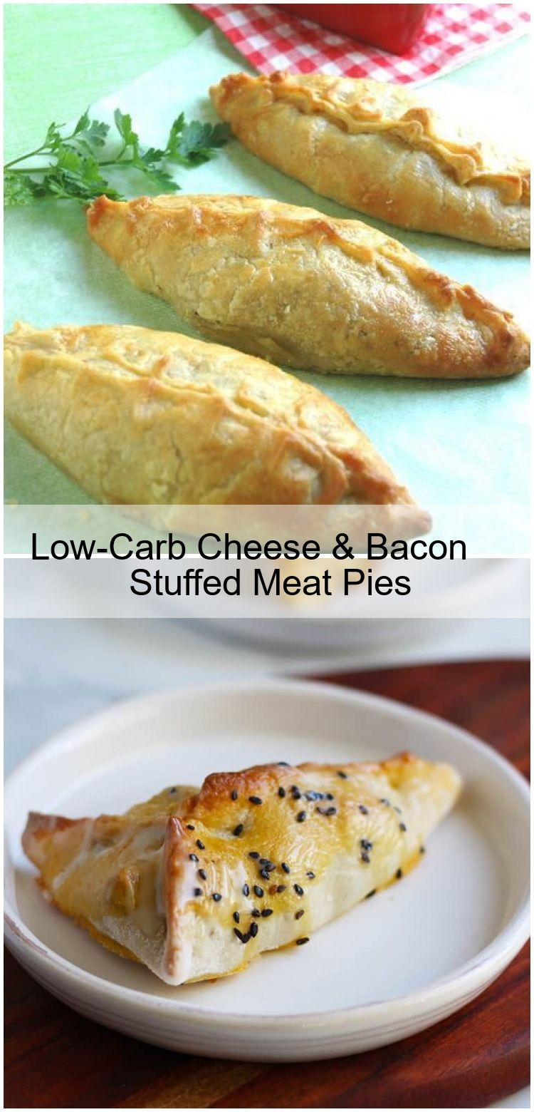 Low-Carb Cheese & Bacon Stuffed Meat Pies Low-Carb Cheese & Bacon Stuffed Meat Pies,