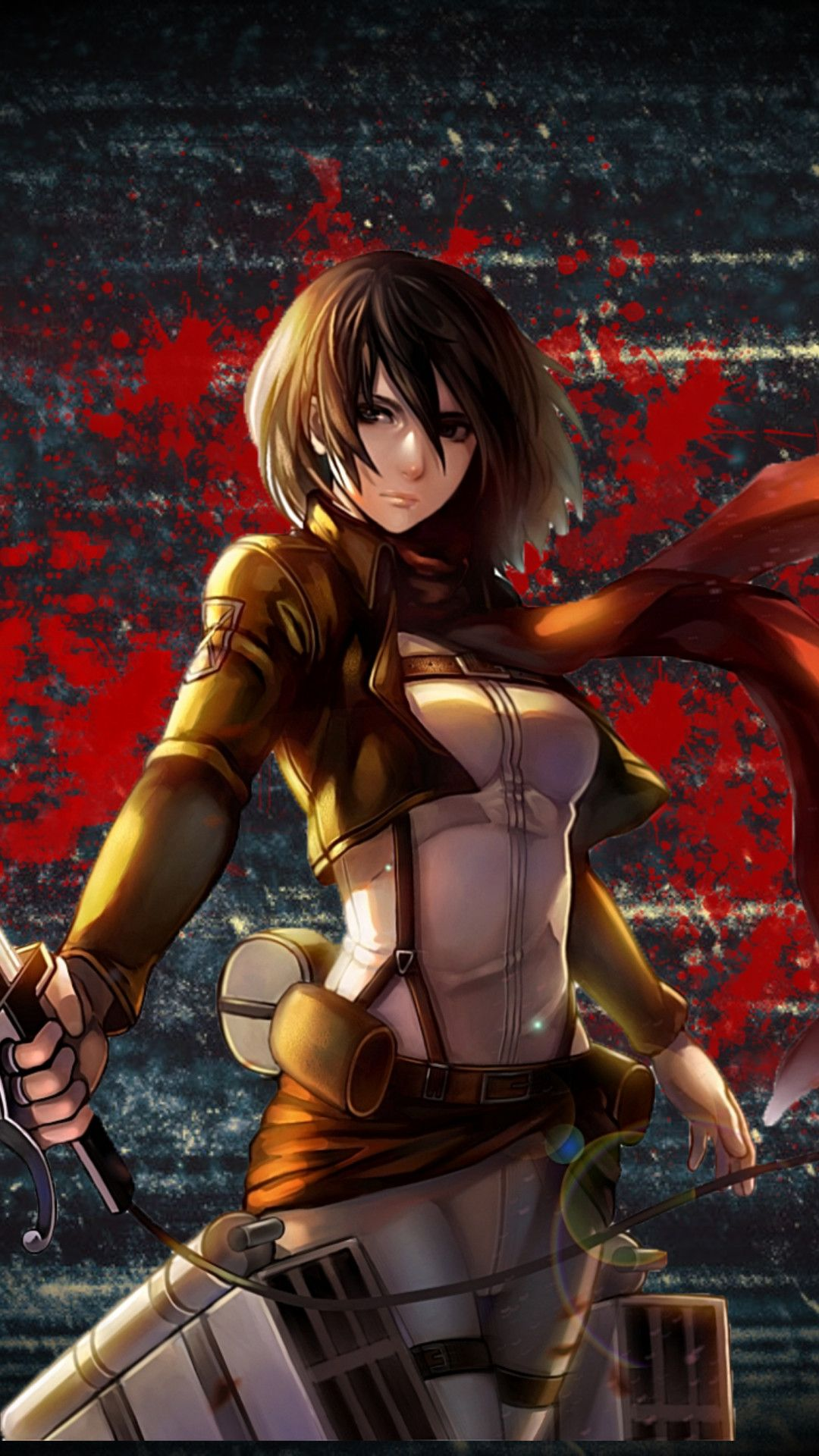 1080x1920 Kyojin Mikasa Ackerman Wallpaper 558308 Anime Warrior Girl Attack On Titan Anime Attack On Titan