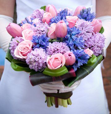 Bouquet Inspiration Easter Spring Pastel Pink Lavender And