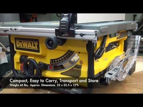 DEWALT DWE780 Compact Tablesaw | Wood From Home | Compact, Table saw