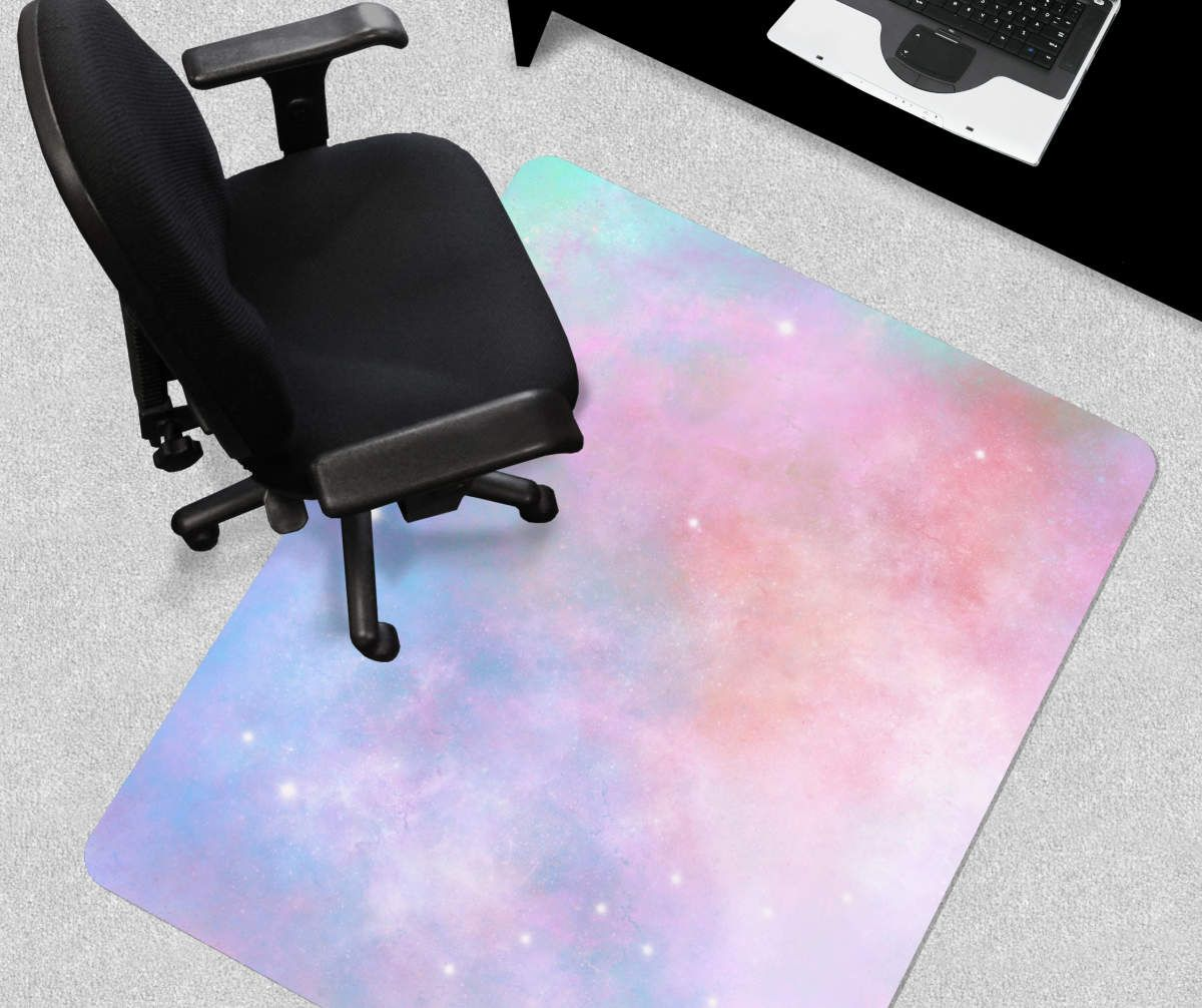 Just Home Pastel Galaxy Chair Mat Big Lots In 2020 Chair Mats Pastel Galaxy Chair