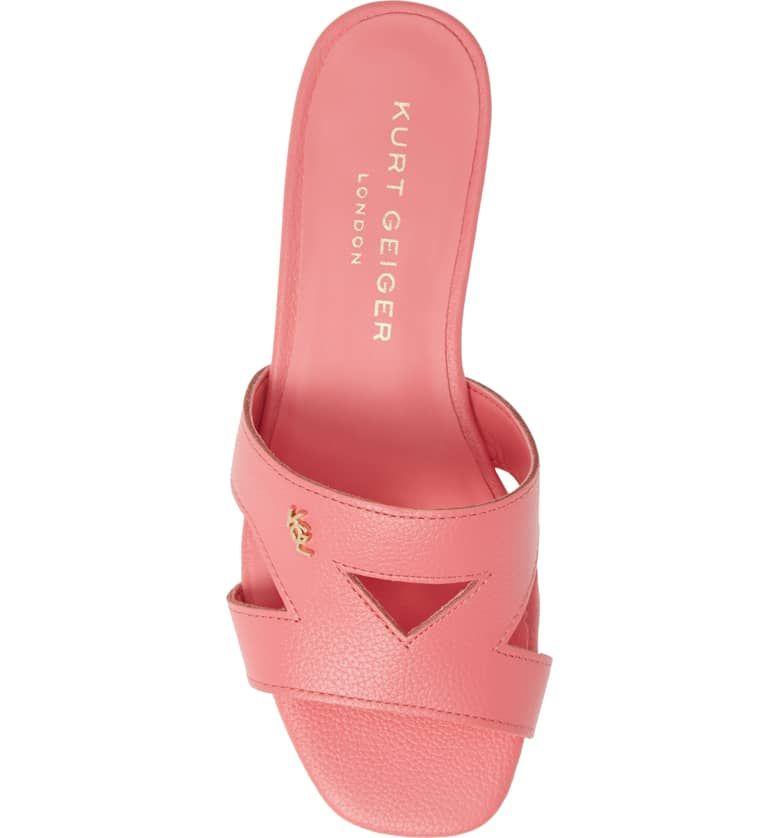 cdf8ce3e32a Odina Cutout Slide Sandal, Alternate, color, PINK LEATHER | Style em ...
