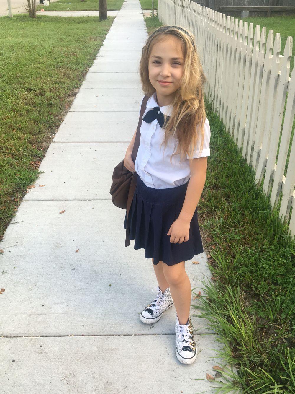 3c33d2a9ff Peter Pan Blouses wirh pleated skirt #schooluniforms | School ...