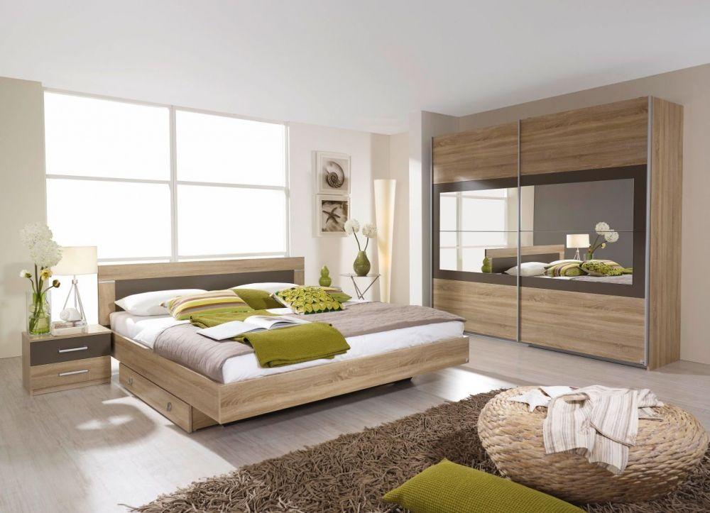 VELO Komplett Schlafzimmer 180 x 200 | 271 cm | Eiche Sonoma ...