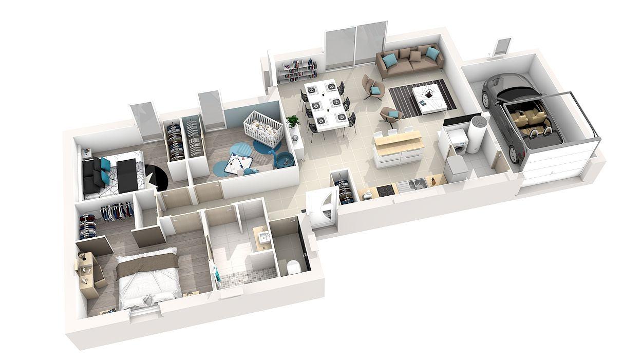 Plan 3d Orion 3 Ch Plan Maison Maison Minecraft Maison