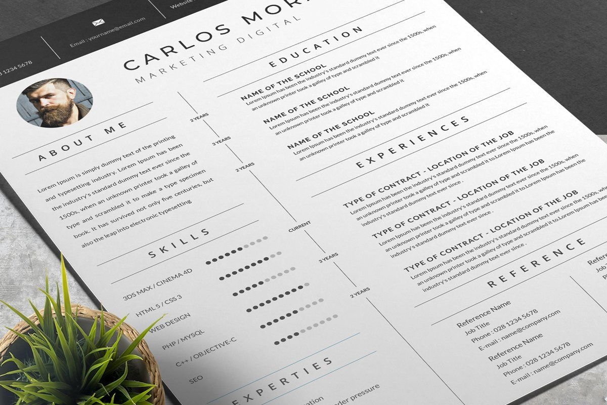 Ad Elegant Resume Template by AutumnTemplate on