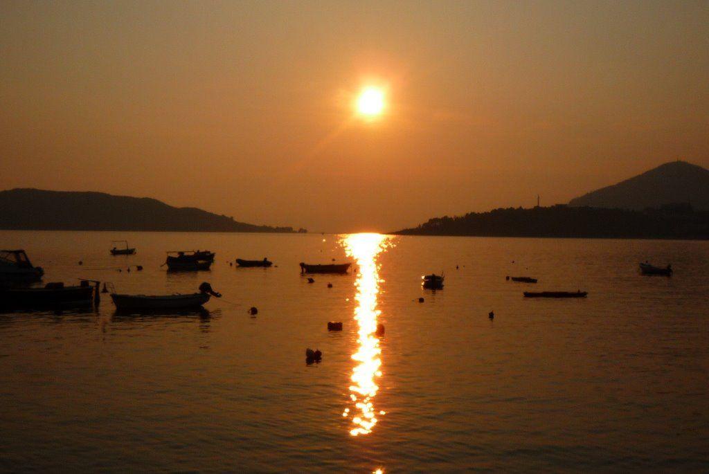 Sunset at Rafailovici, Montenegro