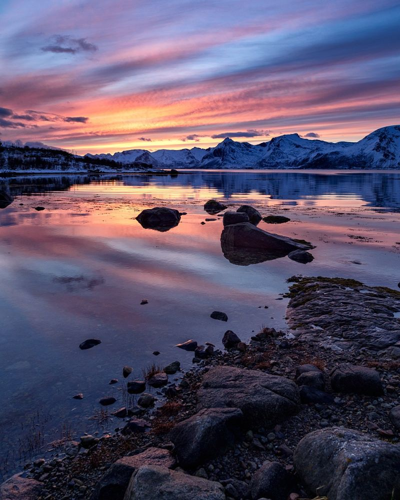 Sunset, somewhere on the road to Narvik by Ajit Menon on 500px