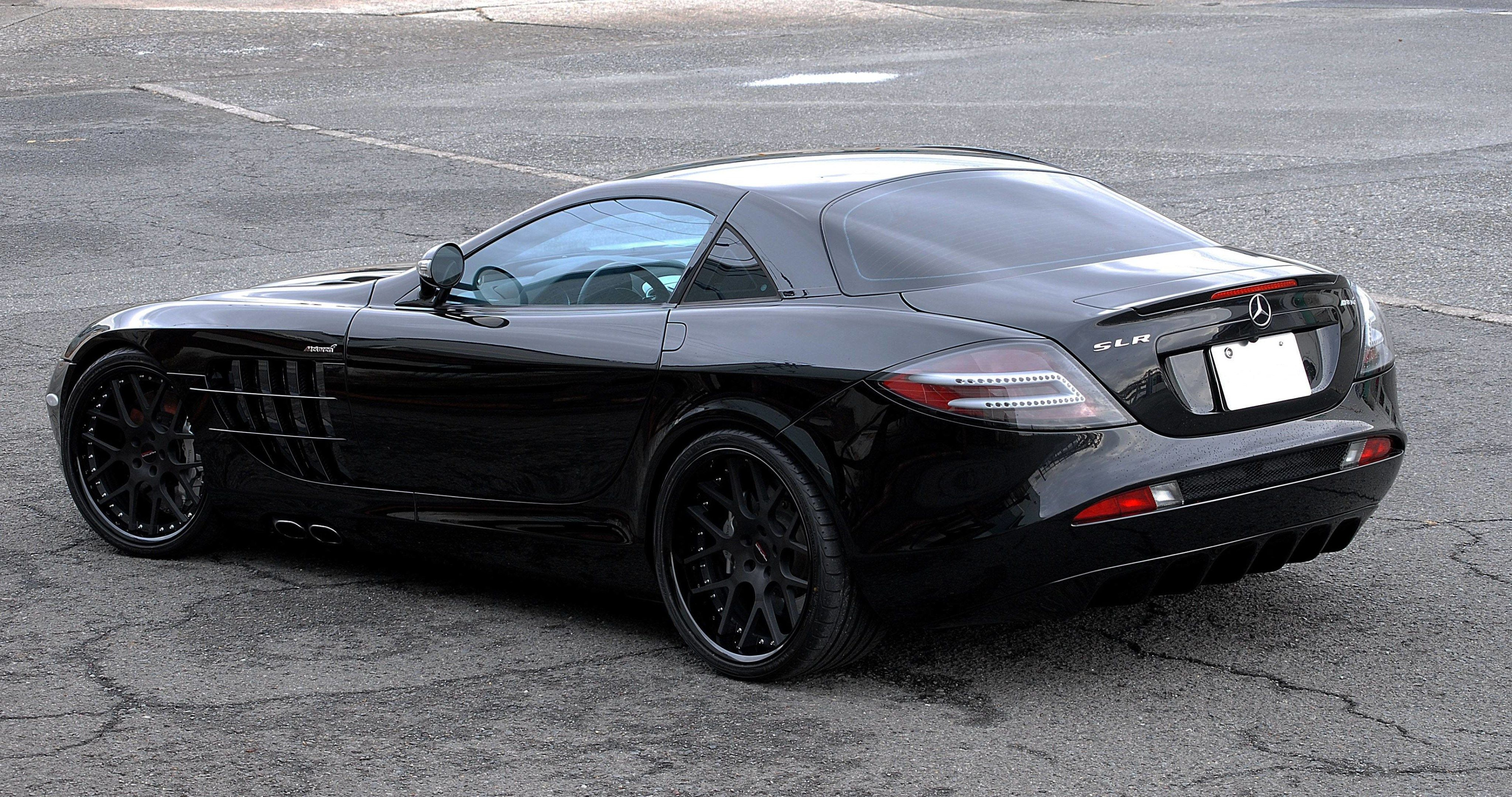 Mercedes Benz Slr Mclaren Black 4k Ultra Hd Wallpaper Ololoshenka