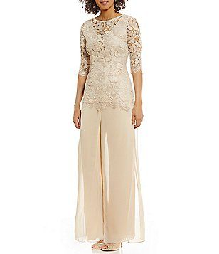 c9bd43b1a5 Emma Street Embroidered Lace 2-Piece Pant Set