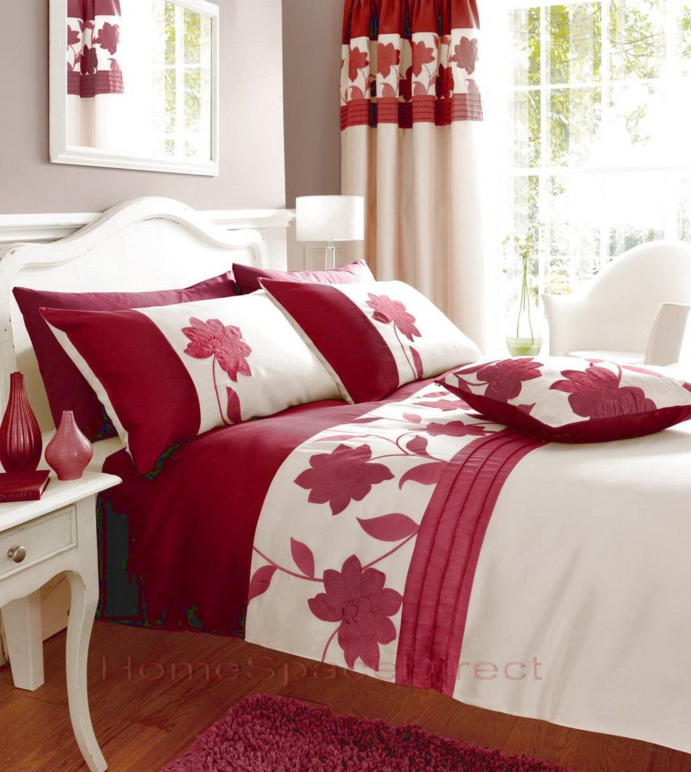 Bedroom Curtains With Matching Bedding Red Bedding Matching Curtains Red Bed Sets Bedding And Curtain Sets