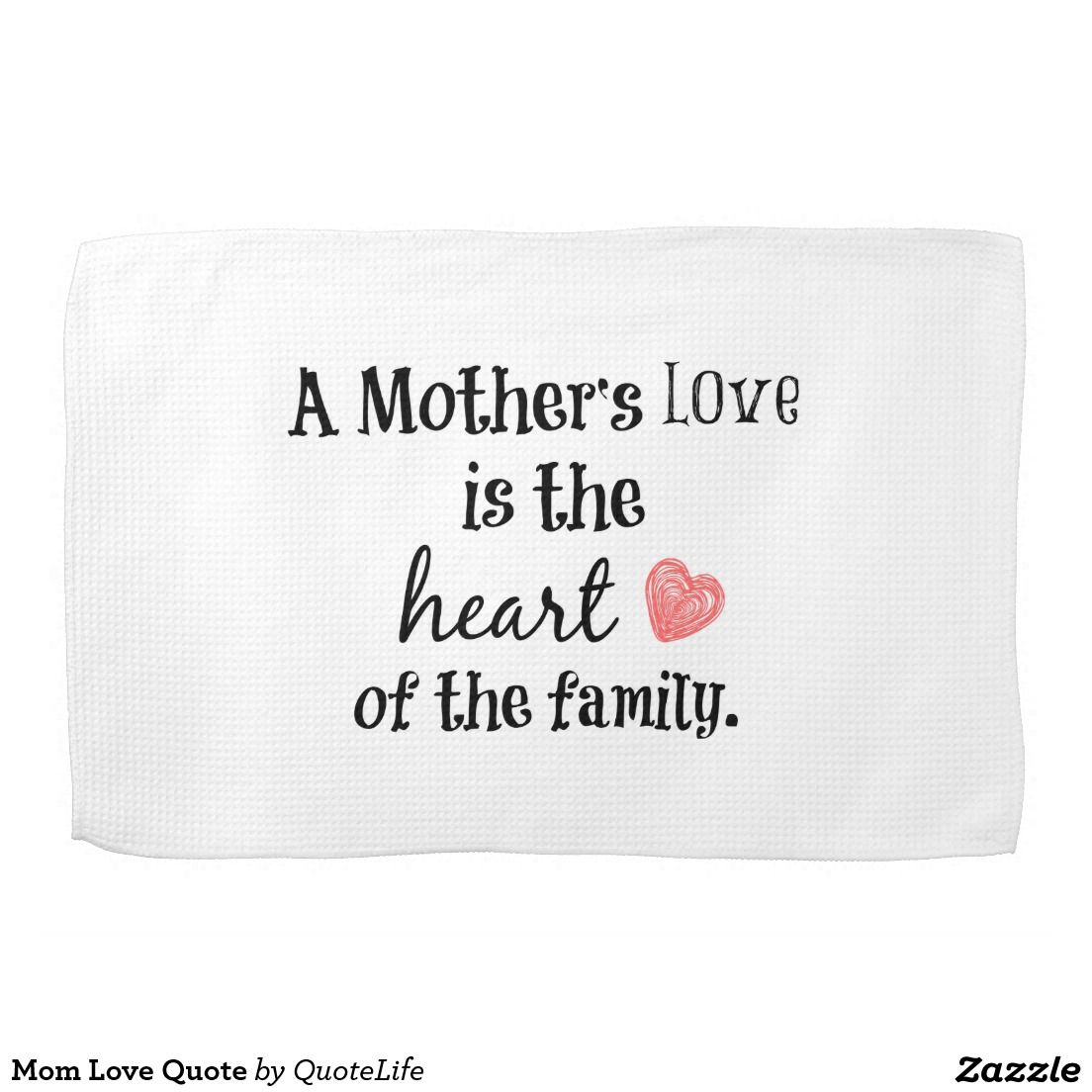 Mom love quote hand towel embroidery designs u inspo pinterest