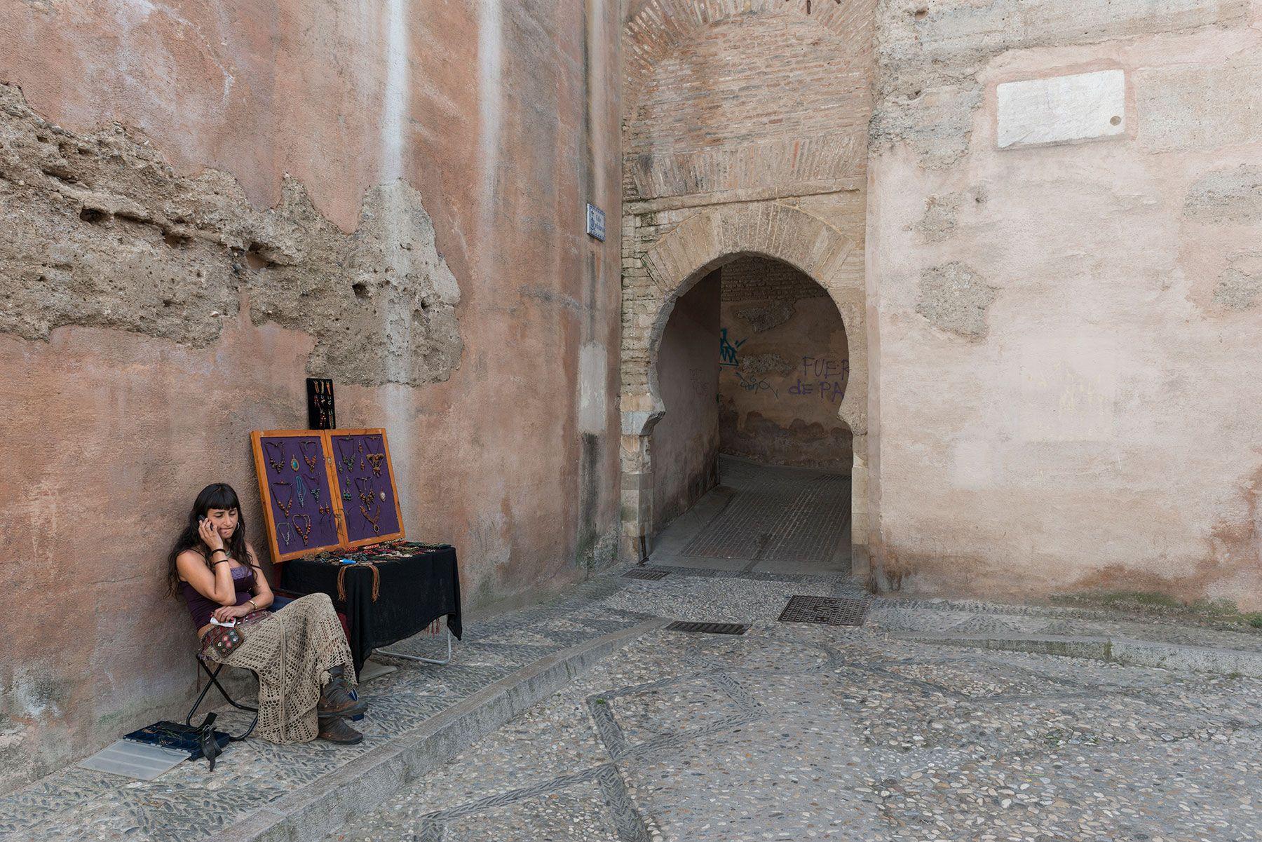 Arco de las pesas en Granada