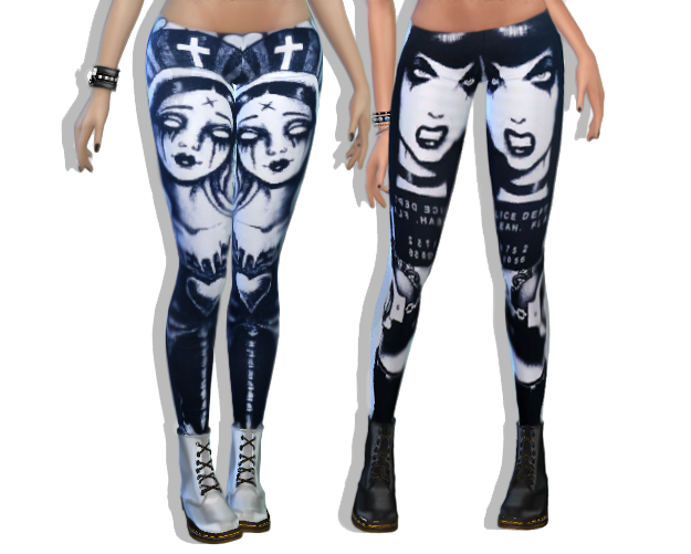 Sims 4 CC's - The Best: Leggings by SlytherSim