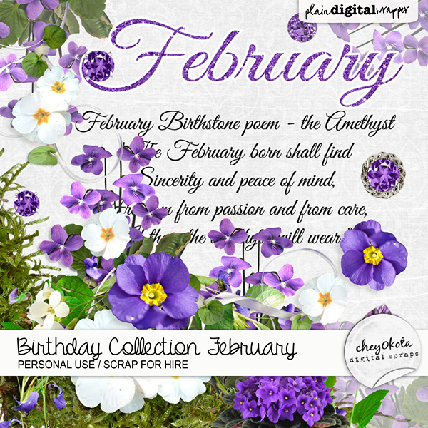 Birthday Collection February by cheyOkota