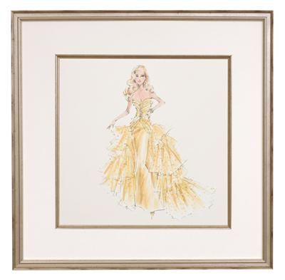 Love This Framed Fashion Barbie Print For A Girl S Room