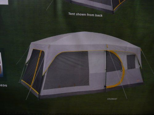 Coleman Weathermaster Ii Screened 10 Person 16 X 10 Tent With Hinged Door And Autoroll Windows 7 Feet Tall And Fits 4 Queen Air Beds By Tent Coleman Air Bed